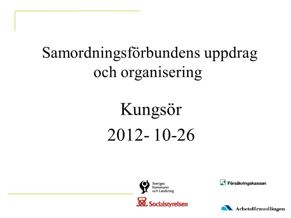 Samordningsförbundens uppdrag och organisering Kungsör 2012- 10-26