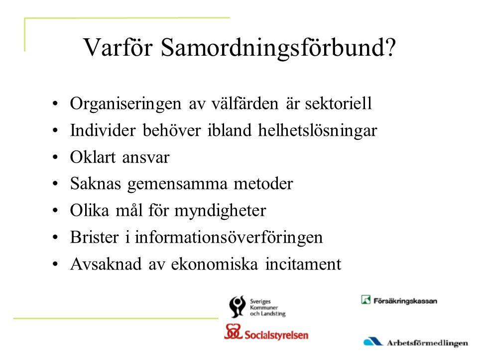Varför Samordningsförbund.