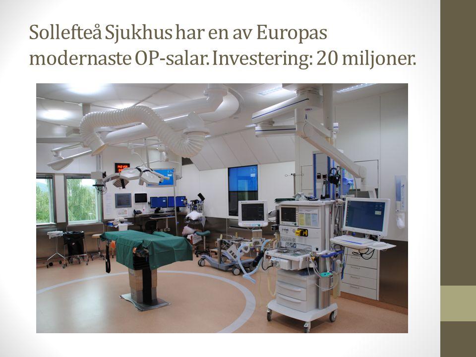 Sollefteå sjukhus är i dagsläget hotat som akutsjukhus. Landstingsfullmäktige har redan beslutat att det ska finnas tre akutsjukhus I Västernorrlands län.