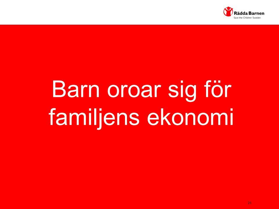 26 Barn oroar sig för familjens ekonomi