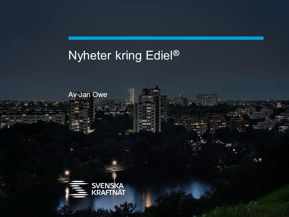 Nyheter kring Ediel ® Av Jan Owe
