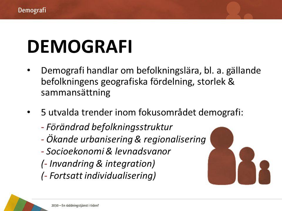 Förändrad befolkningsstruktur • Nödvändigt för fortsatt förståelse bl.