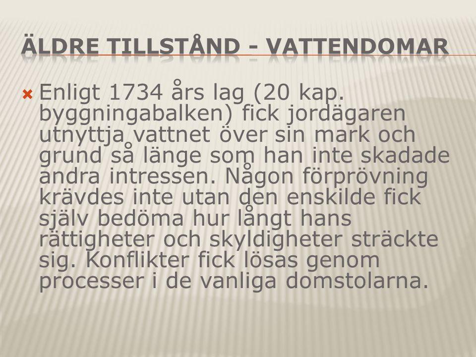  Enligt 1734 års lag (20 kap.
