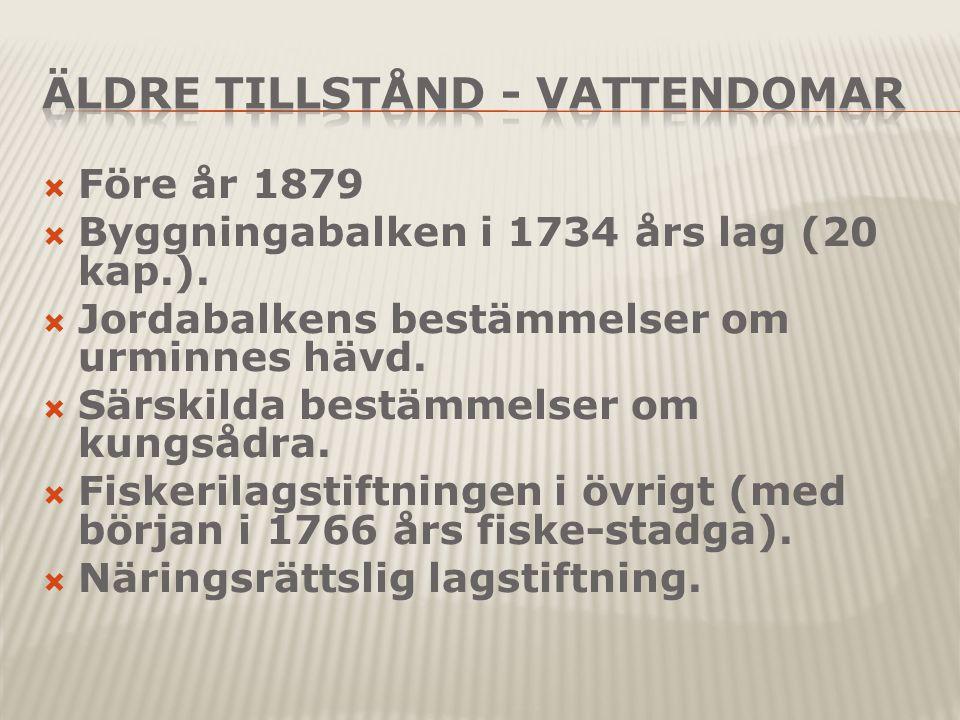  Före år 1879  Byggningabalken i 1734 års lag (20 kap.).