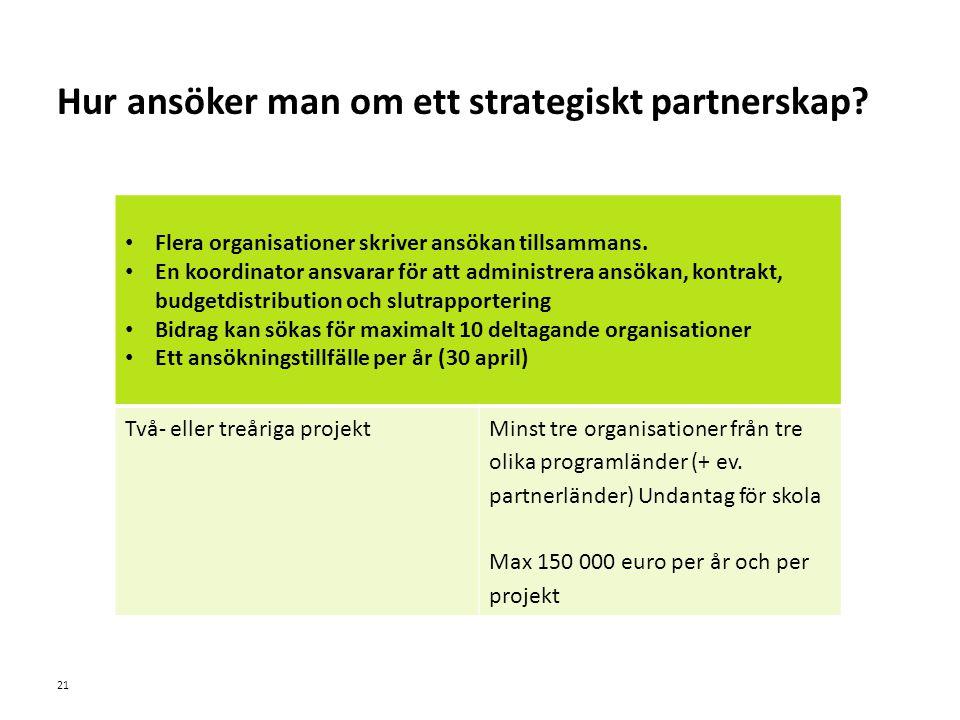 Sv Hur ansöker man om ett strategiskt partnerskap.