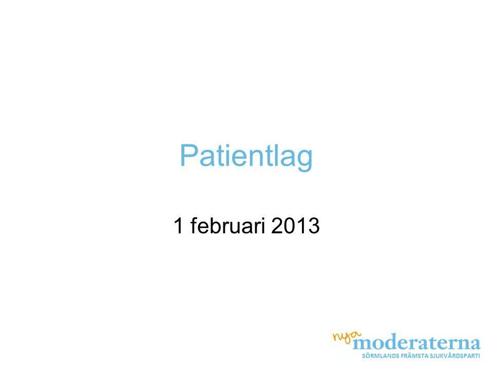 Patientlag 1 februari 2013