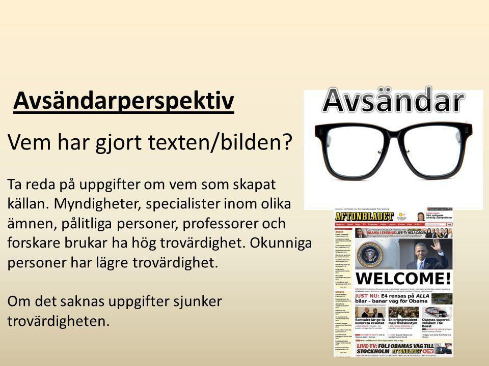 Exempel E: Resonemang om källornas trovärdighet: Jag anser att min Aftonbladetkälla är trovärdig eftersom artikeln är till för att informera folket.