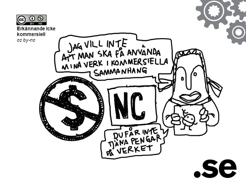 Erkännande Icke kommersiell cc by-nc