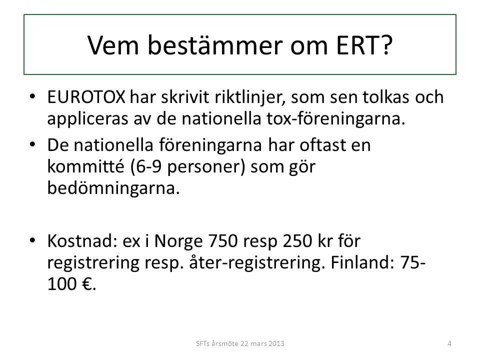 Vem bestämmer om ERT.