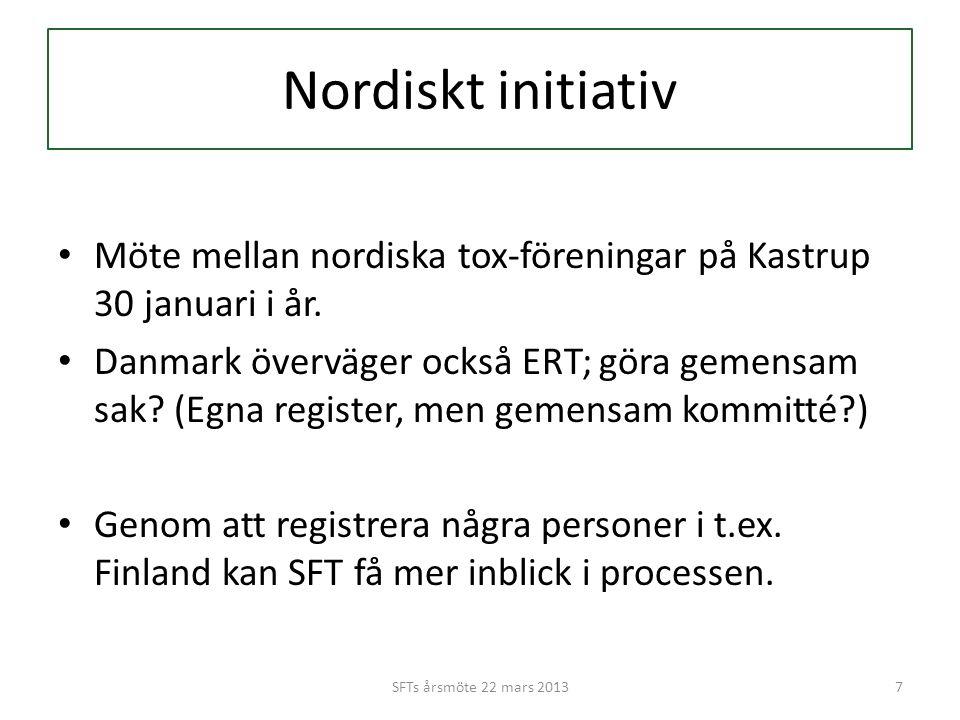 Nordiskt initiativ • Möte mellan nordiska tox-föreningar på Kastrup 30 januari i år.