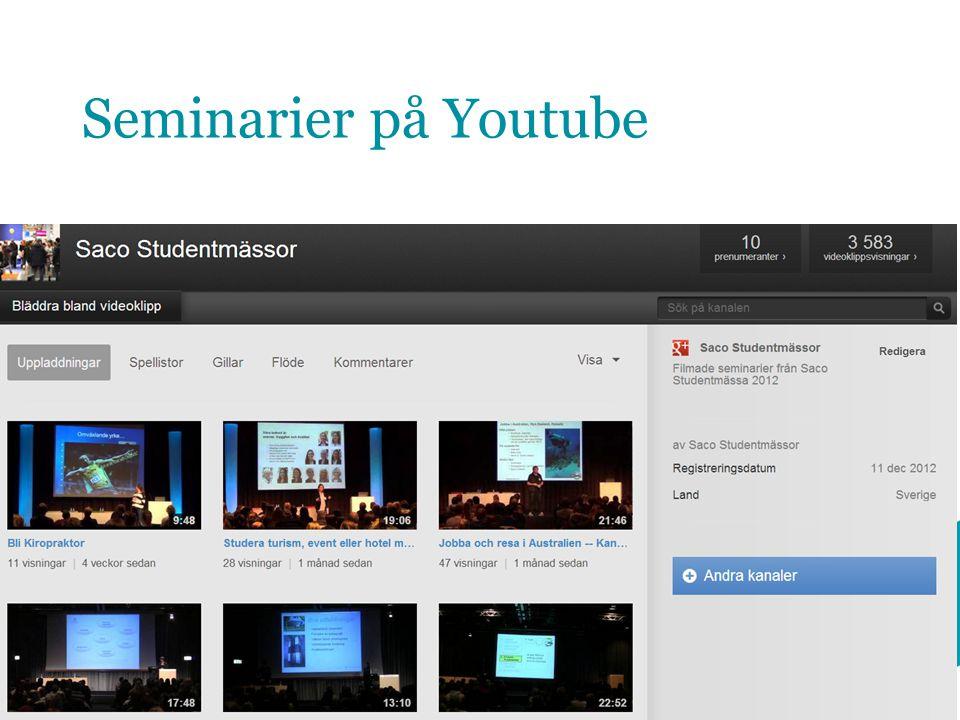Seminarier på Youtube 15