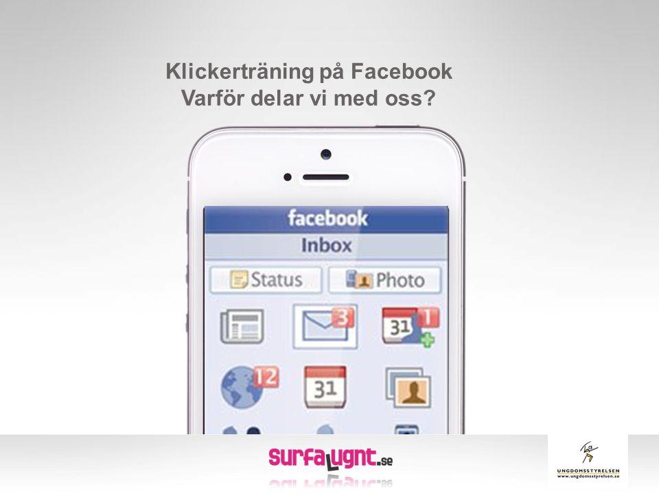 Klickerträning på Facebook Varför delar vi med oss?