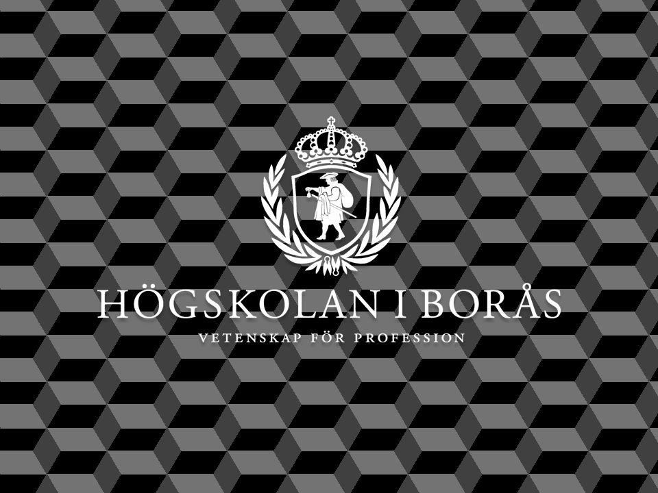 Snabbfakta Omsättning: 586,3 miljoner kronor Personal: 681 Studenter: 13 299 Professorer: 49 Institutioner: 6 Doktorander: 67 Rektor: Björn Brorström www.hb.se