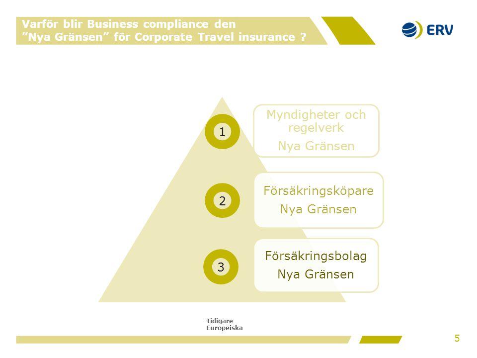 """Tidigare Europeiska Varför blir Business compliance den """"Nya Gränsen"""" för Corporate Travel insurance ? Myndigheter och regelverk Nya Gränsen Försäkrin"""