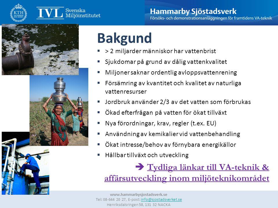 2 www.hammarbysjostadsverk.se Tel: 08-644 20 27, E-post: info@sjostadsverket.se Henriksdalsringen 58, 131 32 NACKAinfo@sjostadsverket.se Bakgund  > 2