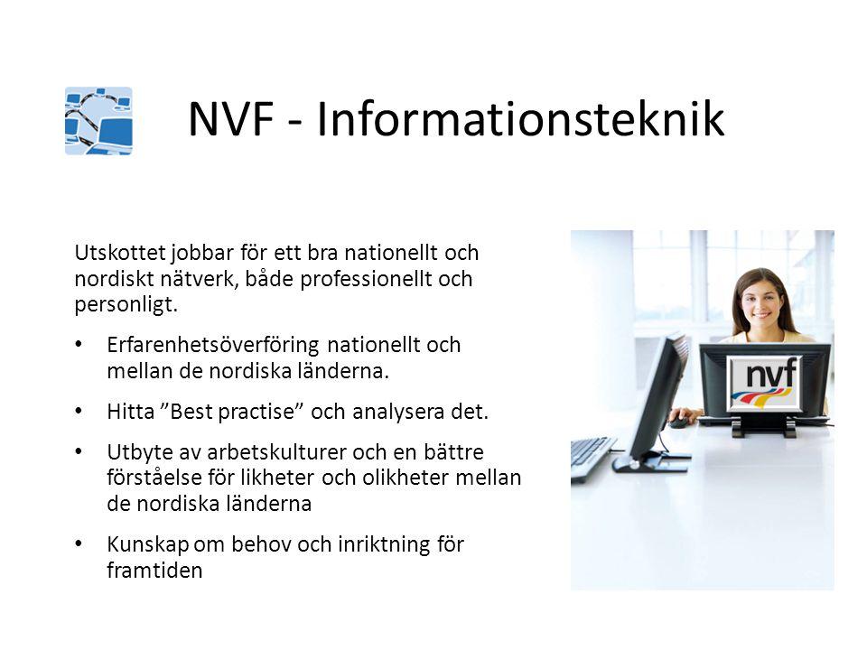 Utskottet jobbar för ett bra nationellt och nordiskt nätverk, både professionellt och personligt. • Erfarenhetsöverföring nationellt och mellan de nor