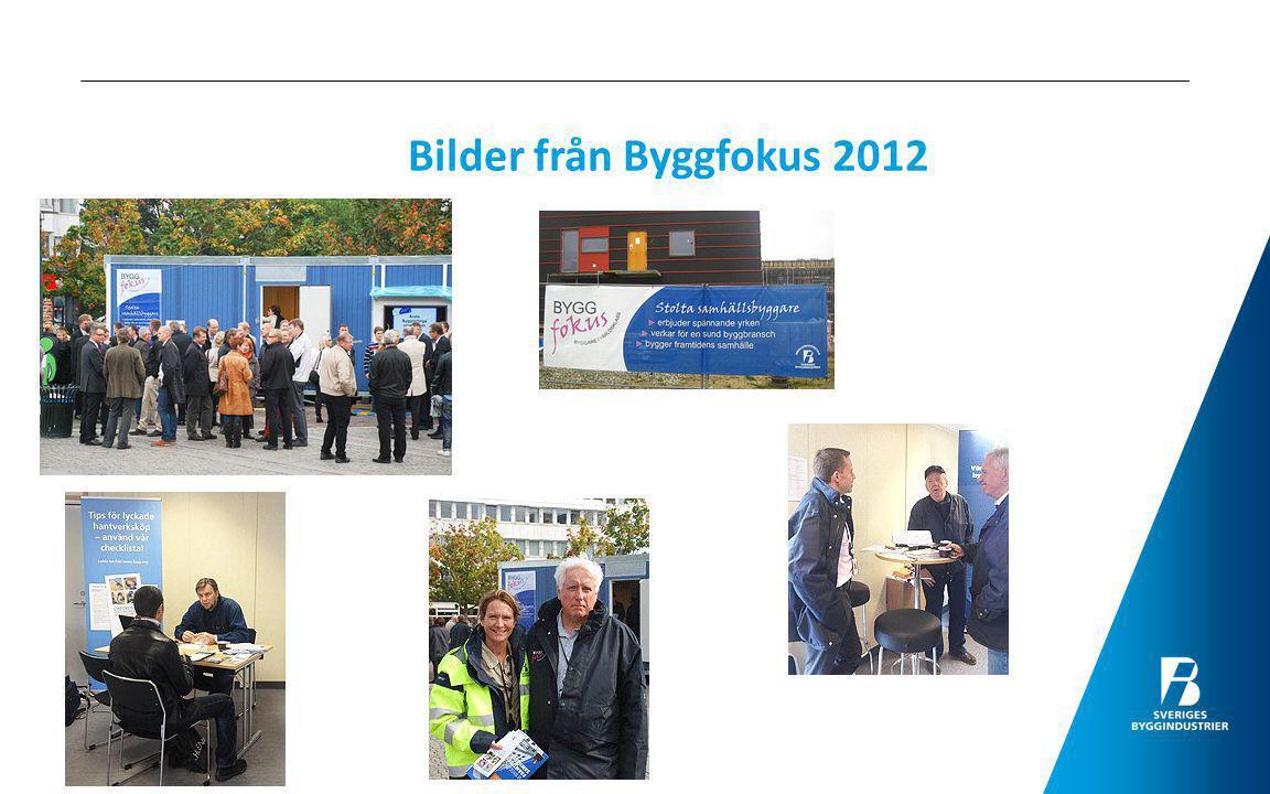 Bilder från Byggfokus 2012