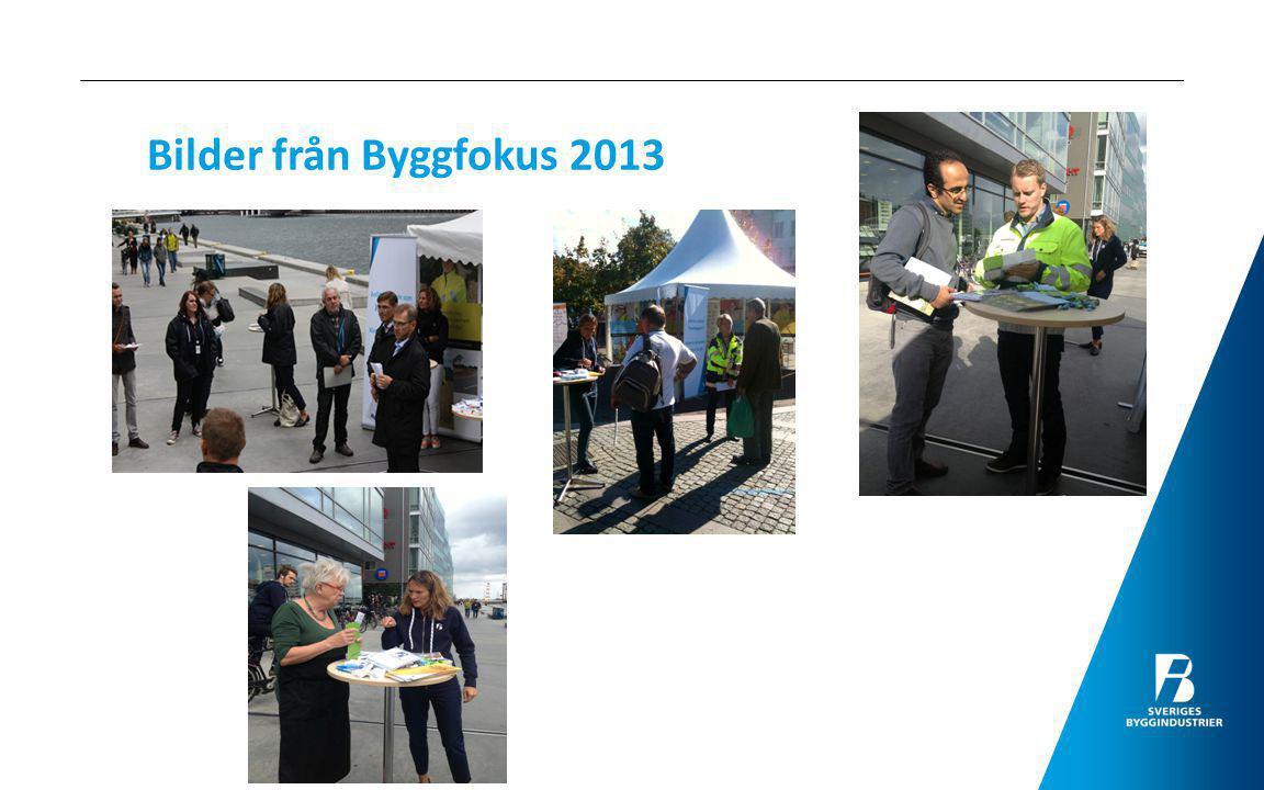 Bilder från Byggfokus 2013
