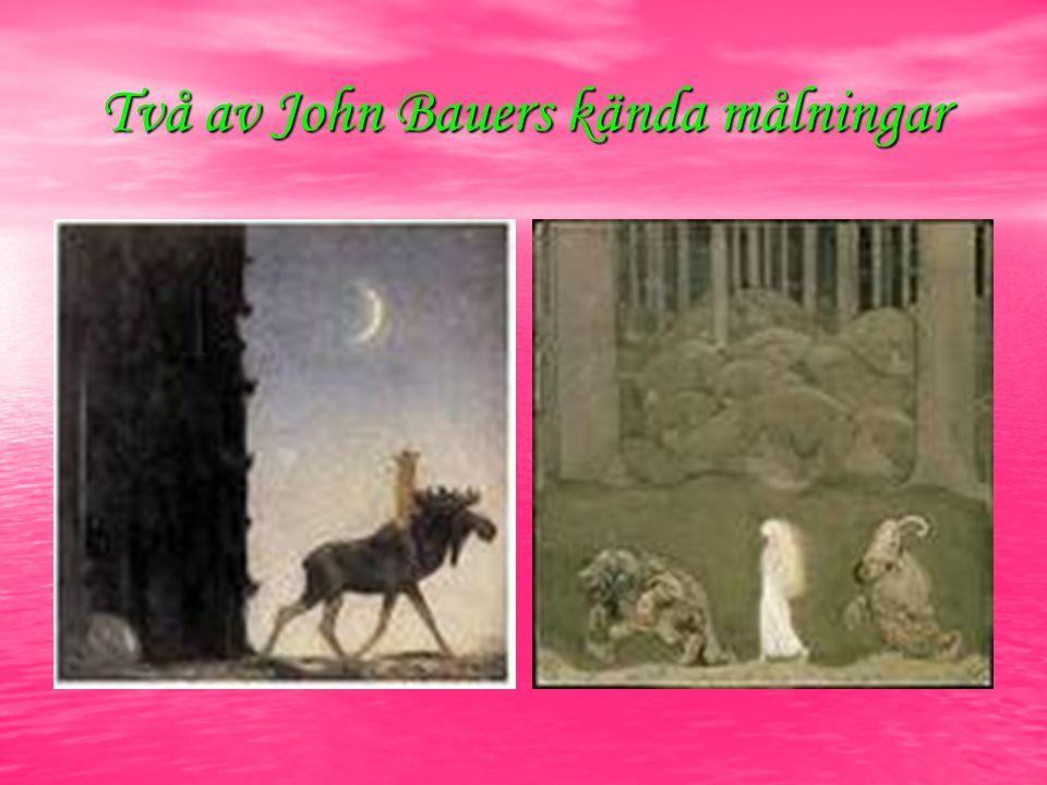 Två av John Bauers kända målningar