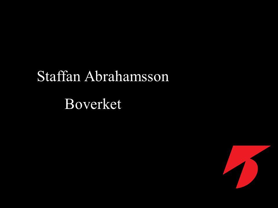 Staffan Abrahamsson Boverket