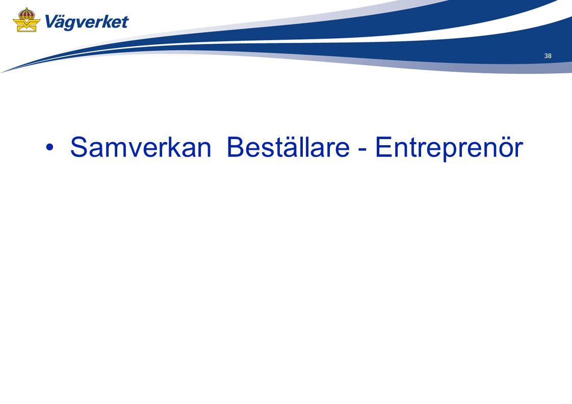 38 • Samverkan Beställare - Entreprenör