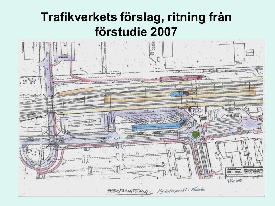 Trafikverkets förslag, ritning från förstudie 2007 Kollektivtrafikgruppen i Sigtuna kommun 17
