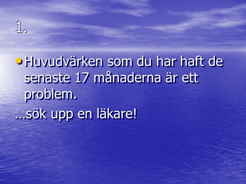 1.1. • Kom bara till oss med problem om ni vill ha hjälp att lösa dom.