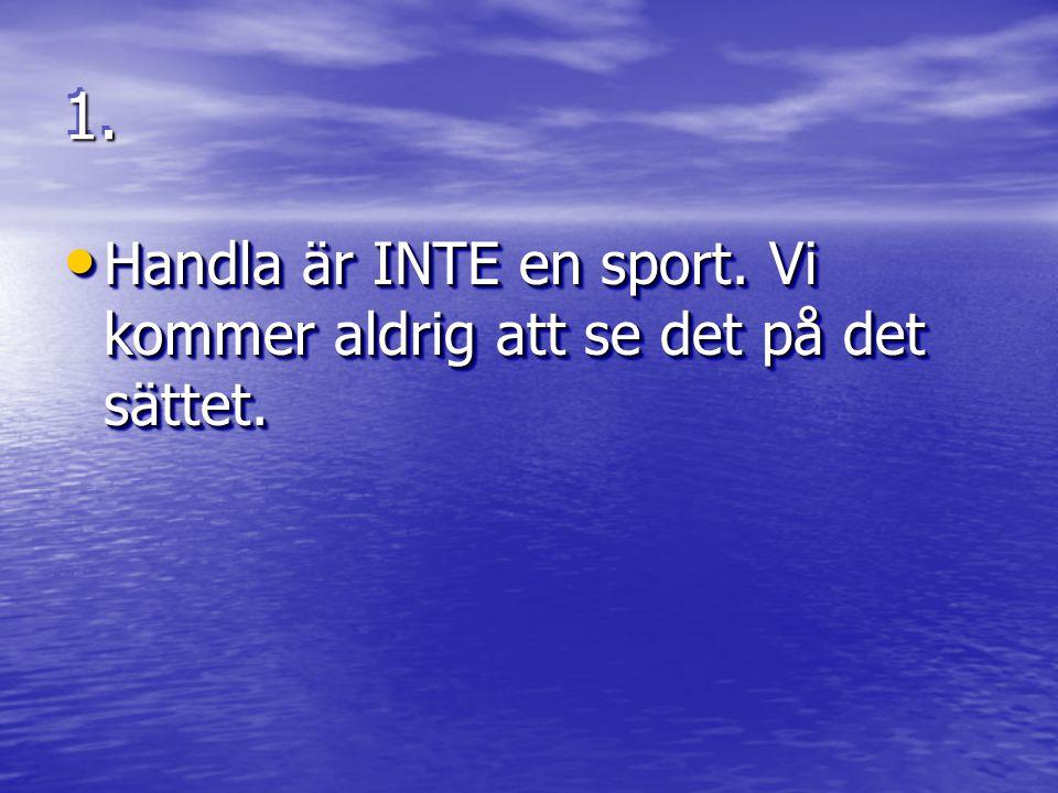 1.1. • Lördag = sport. Det är som med fullmånen eller tidvattnet, går inte att ändra på.