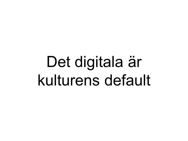Det digitala är kulturens default