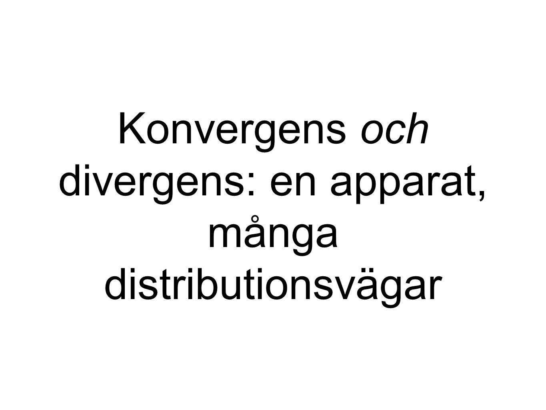Konvergens och divergens: en apparat, många distributionsvägar