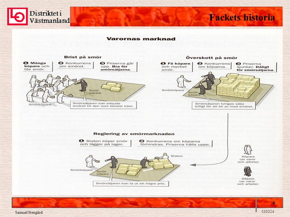 Distriktet i Västmanland Fackets historia 4 030324 Samuel Stengård
