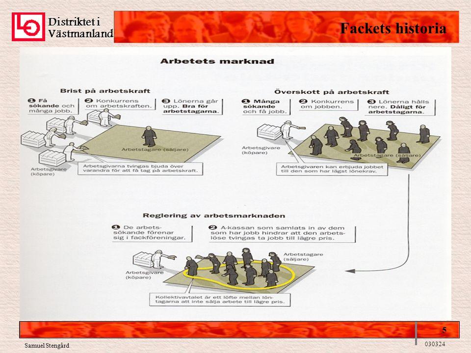 Distriktet i Västmanland Fackets historia 5 030324 Samuel Stengård
