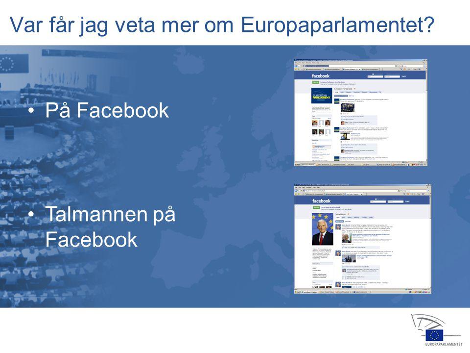 13 jan 2004 14 feb 20064 apr 2006 24 jul 2006 25 jul 2006 22 nov 200516 feb 2006 23 okt 2006 15 nov 2006 12 dec 2006 •På Twitter Var får jag veta mer om Europaparlamentet.