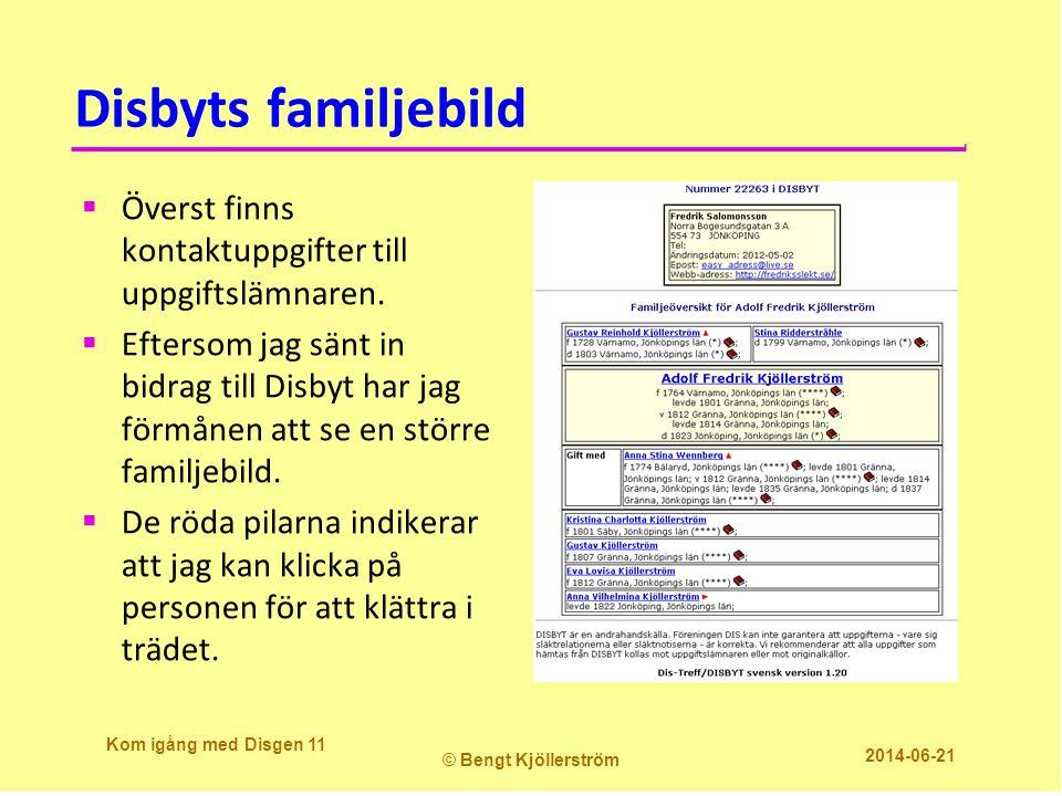 Disbyts familjebild  Överst finns kontaktuppgifter till uppgiftslämnaren.
