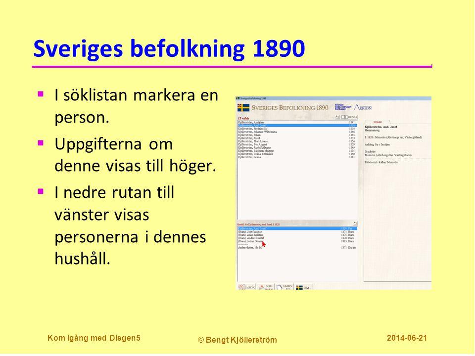 Sveriges befolkning 1890  I söklistan markera en person.