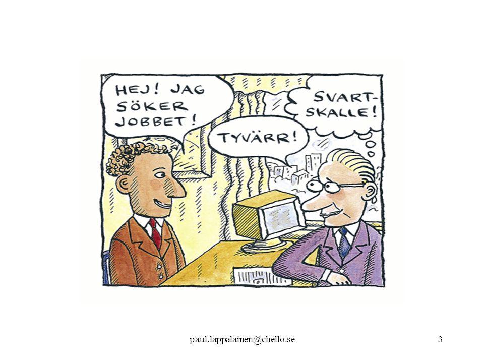 paul.lappalainen@chello.se34 Antidiskrimineringsklausul i föreningsbidrag En liknande klausul införs i alla statliga bidrag till föreningslivet Krav har ställts på invandrarföreningar ang jämställdhet – kanske vettigare att krav ställs på jämlikhet mht alla föreningar, dvs även svenska föreningar