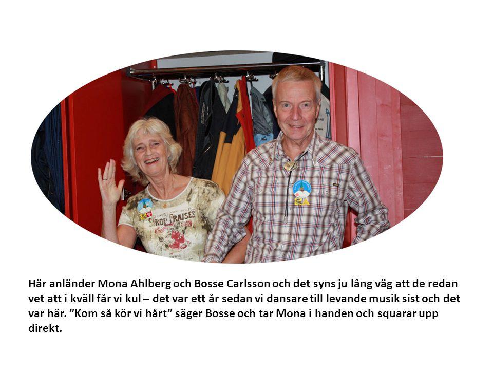 Här anländer Mona Ahlberg och Bosse Carlsson och det syns ju lång väg att de redan vet att i kväll får vi kul – det var ett år sedan vi dansare till l
