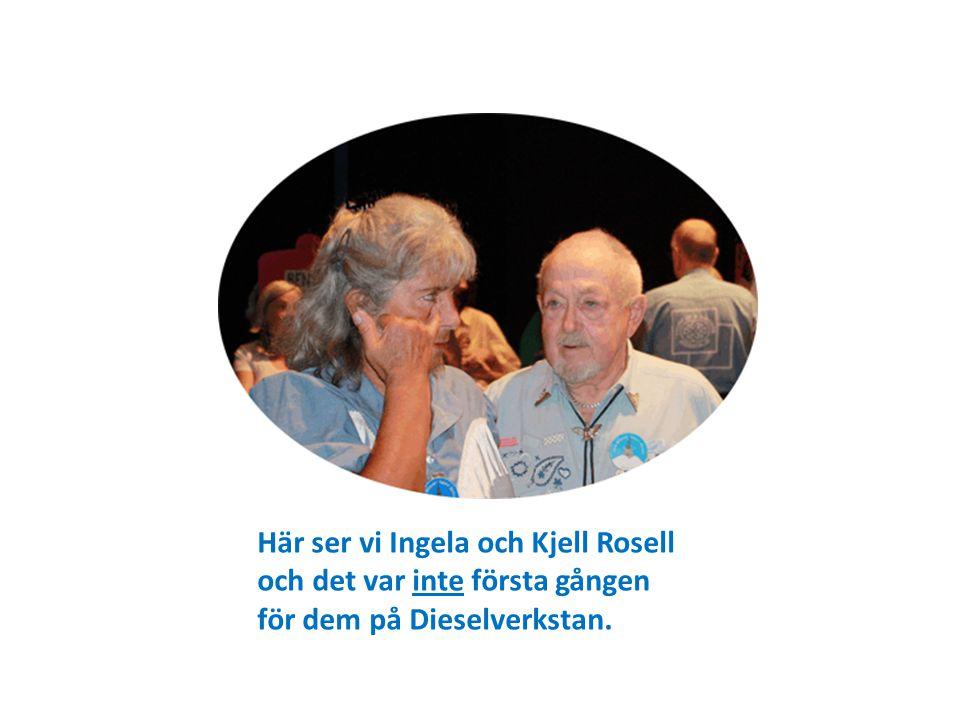 Här ser vi Ingela och Kjell Rosell och det var inte första gången för dem på Dieselverkstan.