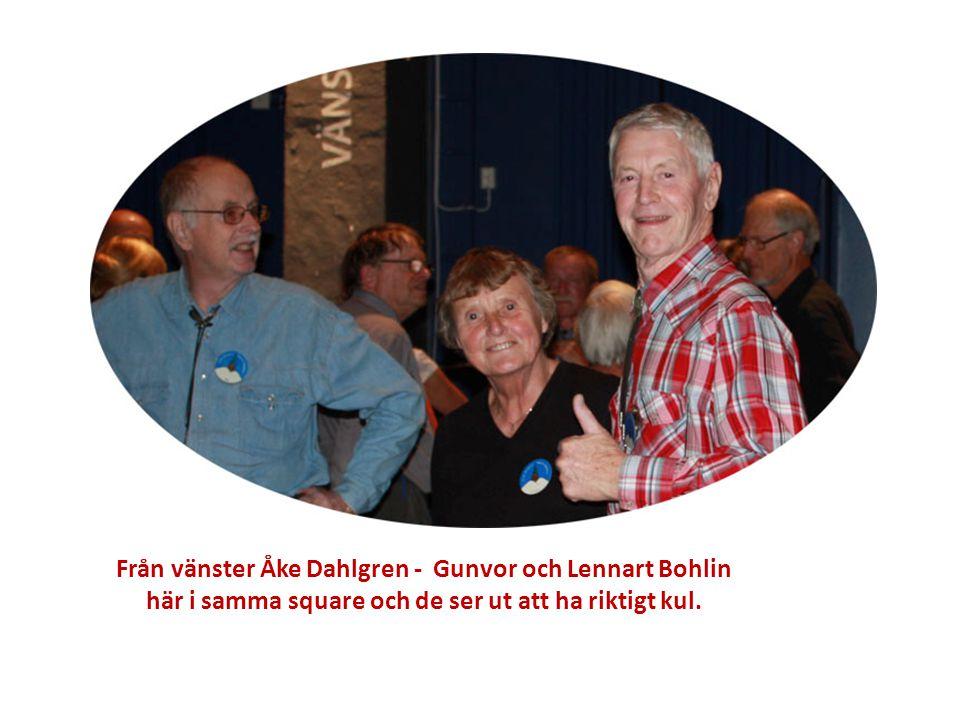 Från vänster Åke Dahlgren - Gunvor och Lennart Bohlin här i samma square och de ser ut att ha riktigt kul.