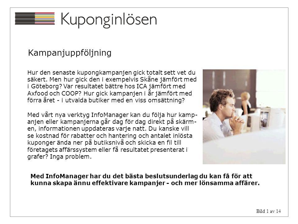 Bild 1 av 14 Kampanjuppföljning Hur den senaste kupongkampanjen gick totalt sett vet du säkert. Men hur gick den i exempelvis Skåne jämfört med i Göte