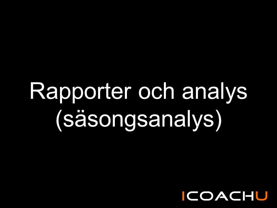Rapporter och analys (säsongsanalys)