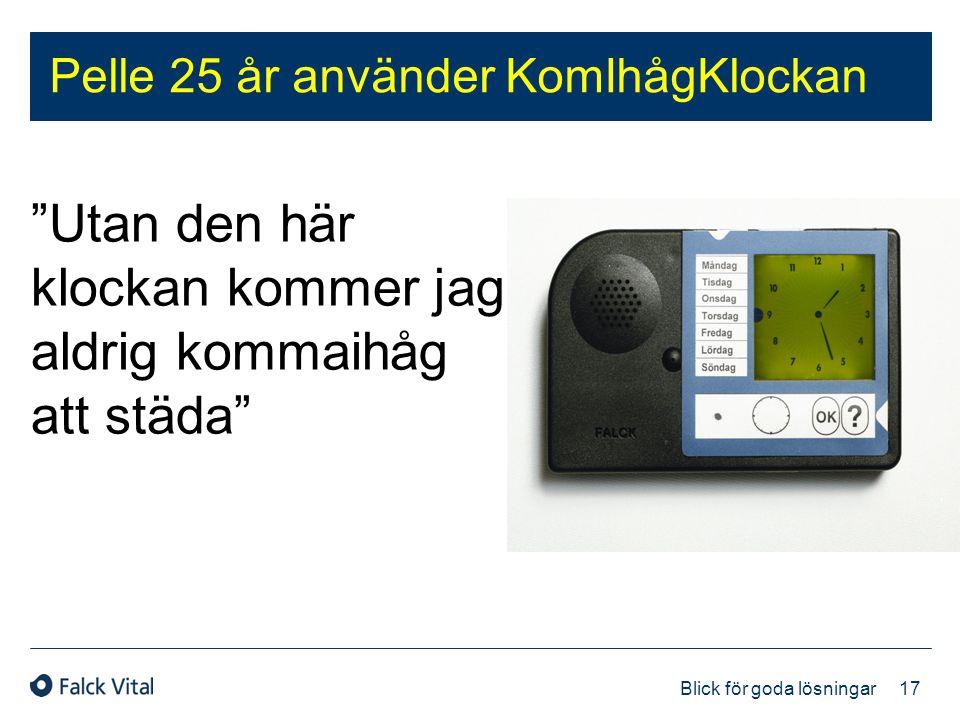 """17 Blick för goda lösningar Pelle 25 år använder KomIhågKlockan """"Utan den här klockan kommer jag aldrig kommaihåg att städa"""""""