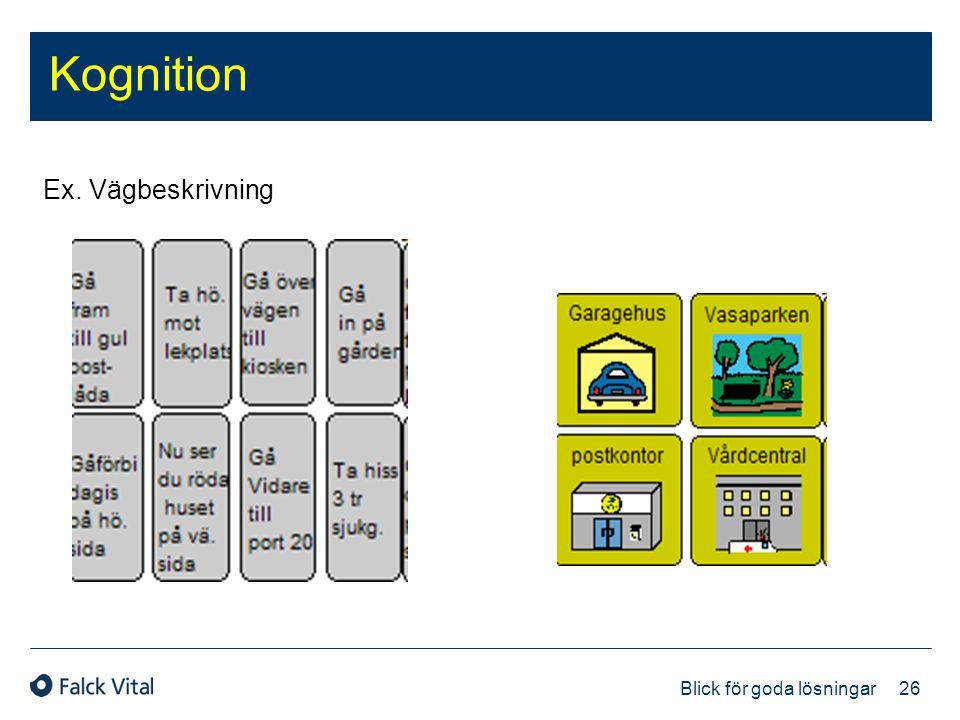 26 Blick för goda lösningar Kognition Ex. Vägbeskrivning