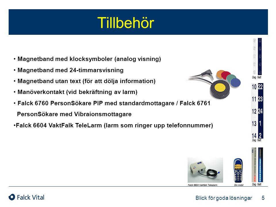 5 Blick för goda lösningar Tillbehör • Magnetband med klocksymboler (analog visning) • Magnetband med 24-timmarsvisning • Magnetband utan text (för at