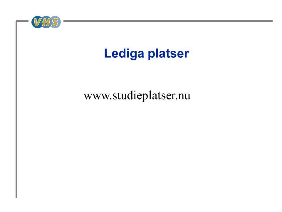 Lediga platser www.studieplatser.nu