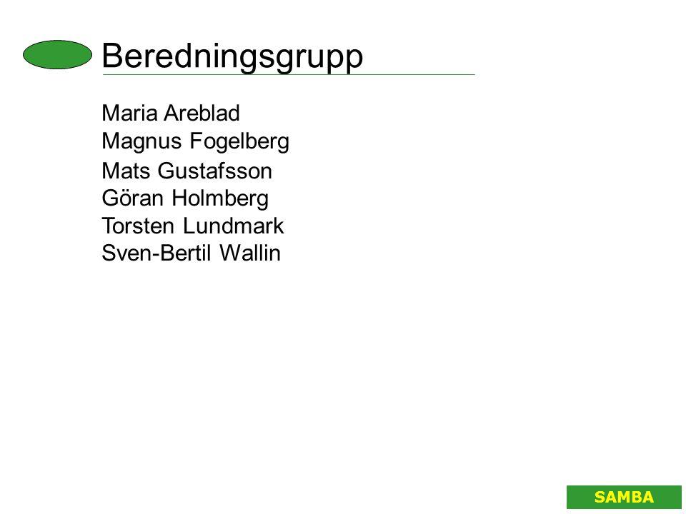 Remissberedningsgrupp SAMBA Maria Areblad Magnus Fogelberg Lars Midbøe