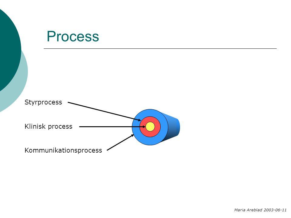 Process Klinisk process Styrprocess Kommunikationsprocess Maria Areblad 2003-06-11