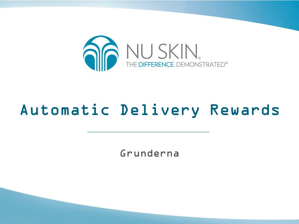 Automatic Delivery Rewards Grunderna