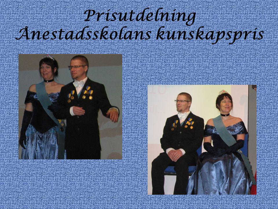 Prisutdelning Ånestadsskolans kunskapspris