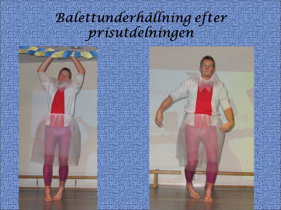 Balettunderhållning efter prisutdelningen